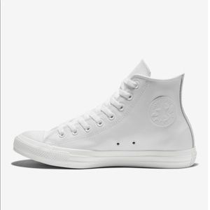 ALL WHITE HIGH TOP CONVERSE